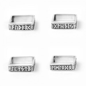 Кольцо Футарк из серебра